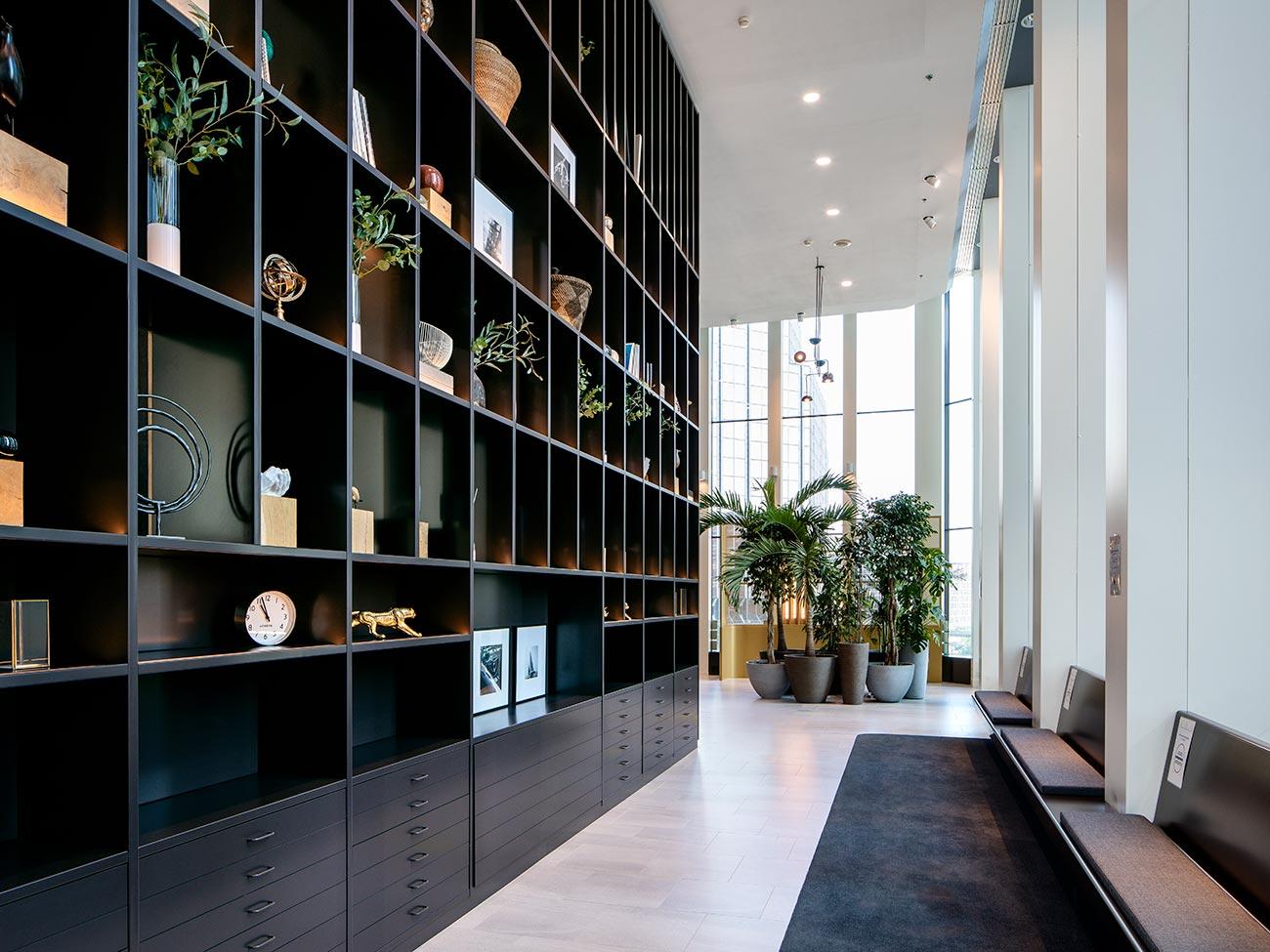 Bibliothèque Takis - immeuble bureaux Tour CB21 Paris La Défense
