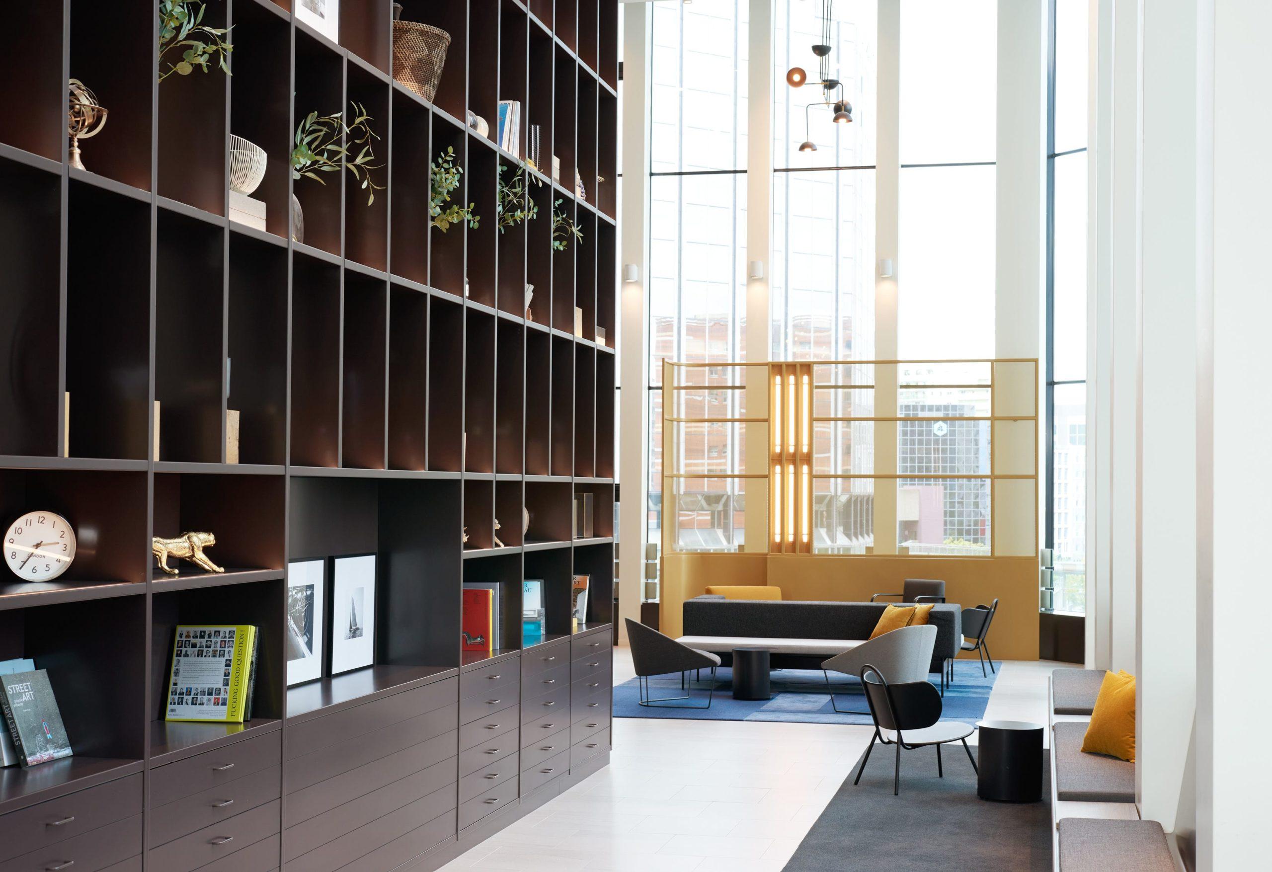 Bibliothèque Takis, immeuble bureaux Tour CB21 Paris La Défense